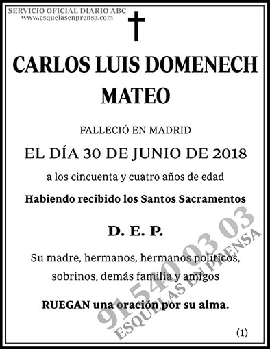 Carlos Luis Domenech Mateo